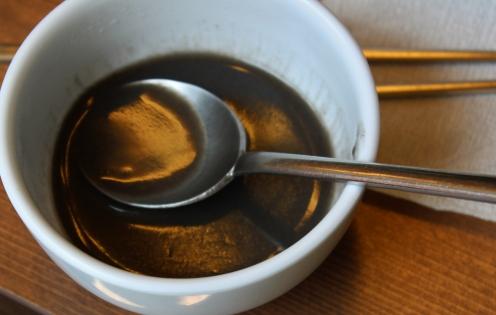 black sesame soup (:P yum!)