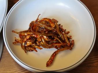 dried sardines...um, ick